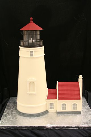Lighthouse Cake - Replica of Lighthouse on Oregon Coast